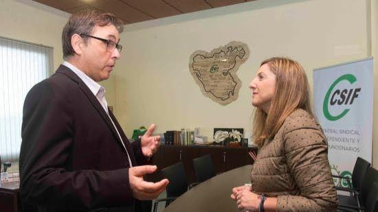 Visita institucional de Irene García a la Unión Provincial del CSIF Cádiz