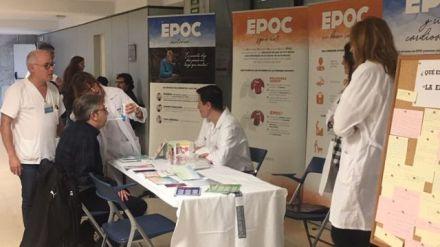 Personas con EPOC toman la voz en el Hospital Doctor Peset para dar a conocer su enfermedad