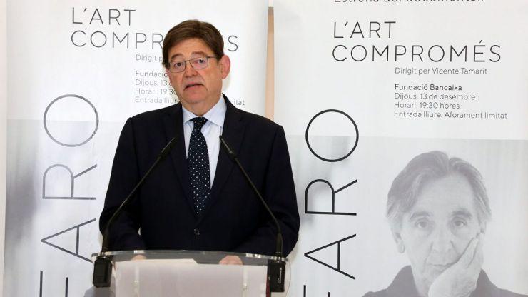 Una obra de Alfaro representará en el Patio Gótico del Palau de la Generalitat la 'mirada universal' del escultor valenciano