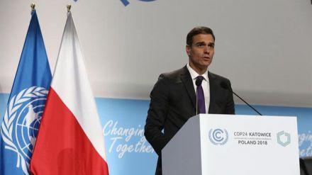Sánchez aboga por una mayor ambición en la lucha contra el cambio climático