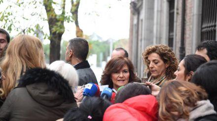 Carmen Calvo: 'Torra no puede seguir creando más inseguridad a Cataluña'