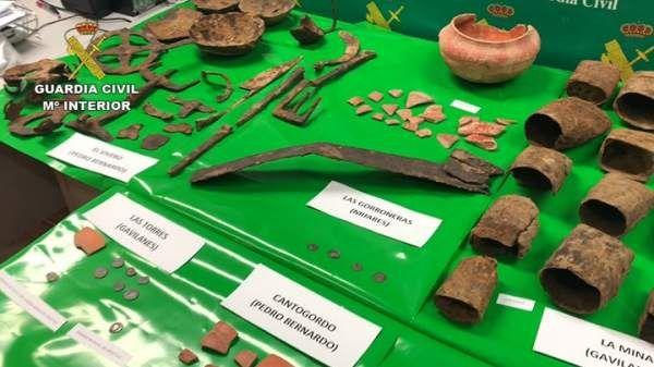 Recuperadas 257 piezas arqueológicas en Ávila