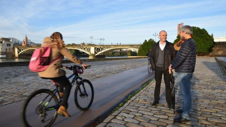 Culmina la renovación del carril bici del Paseo Marqués de Contadero