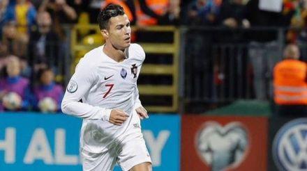 Cristiano Ronaldo a la grada del Metropolitano: