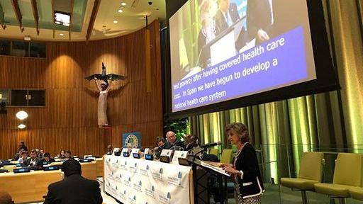 Carcedo aborda en la ONU la necesidad de incluir la medicina de precisión en la Cobertura Sanitaria Universal para evitar desigualdades