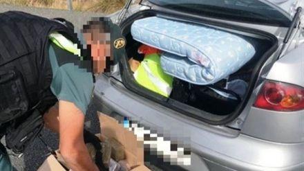 Detenidos por llevar 15 kilos de hachís en el coche en el que viajaba su bebé
