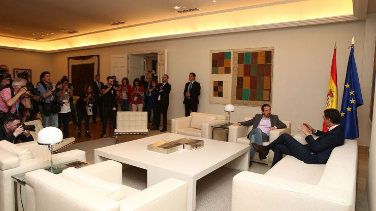 Sánchez reúne a PP, Cs y UP en Moncloa para transmitir su