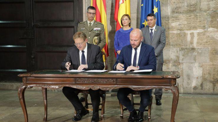 Ximo Puig anuncia que la Generalitat asumirá la vía pecuaria del Cordel de la Garrofera para hacer una carretera autonómica