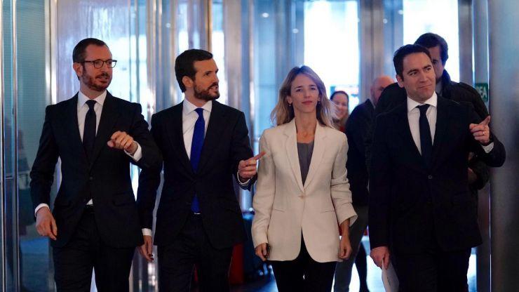 Maroto: 'Pedro Sánchez es el presidente que quieren Otegi, Rufián y Pablo Iglesias'