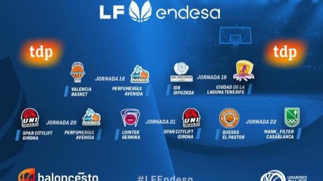 TV: La LF Endesa define su parrilla de retransmisiones hasta la Copa de la Reina