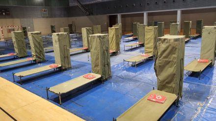 Comienza la acogida de personas sin techo en el complejo deportivo de la Petxina en Valencia