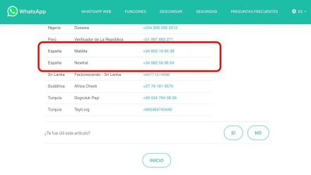 Sí, Maldita y Newtral son verificadores de información de WhatsApp