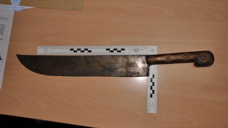 Detenido un hombre por amenazar con un machete a su suegro en una discusión en Palma