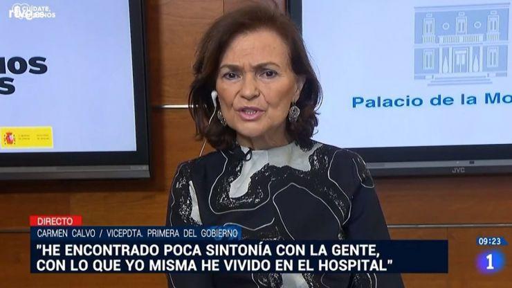 Carmen Calvo adelanta que necesitaremos