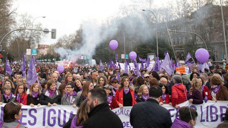 Más de 600.000 personas asistieron el 8-M a casi 500 marchas por el Día de la Mujer