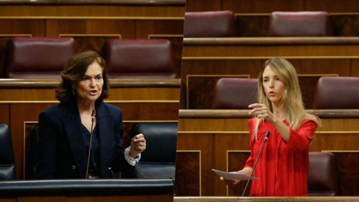 Lluvia de zascas entre Cayetana Álvarez de Toledo y Carmen Calvo