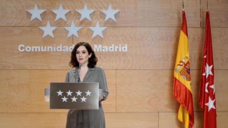 Ayuso acusa a Sánchez de utilizar 'motivos políticos' para llevar a la Comunidad de Madrid 'a la ruina'