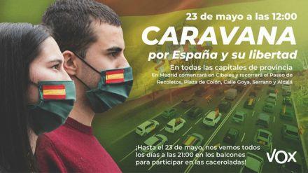 VOX convoca a 'todos los españoles' a la 'Caravana por España y su Libertad'
