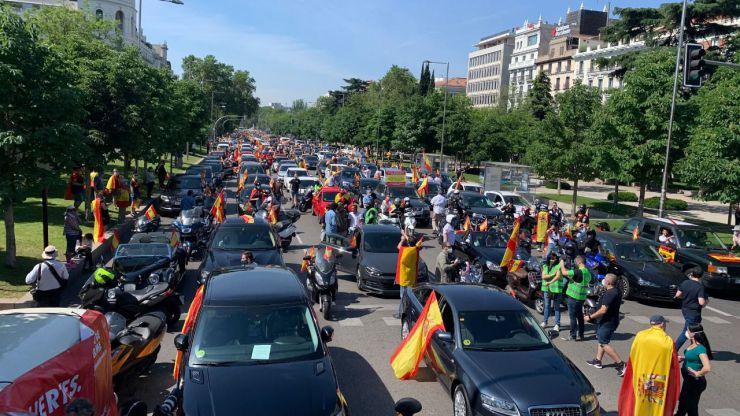Vox consigue colapsar el centro de Madrid y varias ciudades en su protesta contra el Gobierno