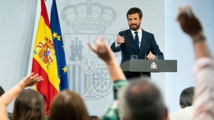 Casado pide a Sánchez que no se escude en la pandemia para exigir 'un cheque en blanco' al PP