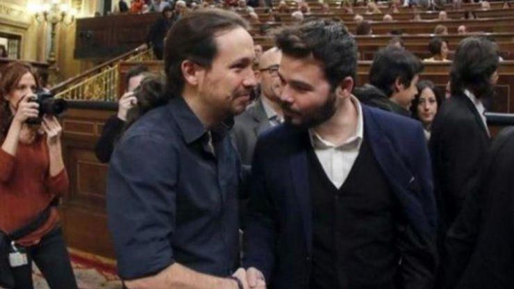 Rufián se reunirá por separado con Calvo e Iglesias para negociar los Presupuestos