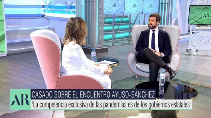 Casado sobre la visita de Sánchez a Ayuso: 'No viene a ayudar sino a informarse de lo que le compete'