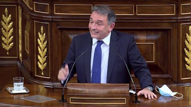 Enrique Santiago denuncia cómo Ciudadanos, Vox y PP inundan el Congreso de