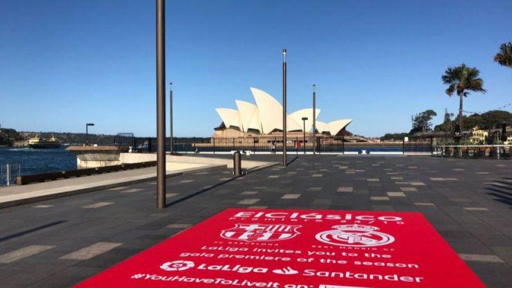 LaLiga calienta 'ElClásico' con una acción en distintas ciudades del mundo