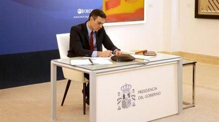 Sánchez a la OCDE: 'No podemos volver a la economía como era antes del COVID-19'