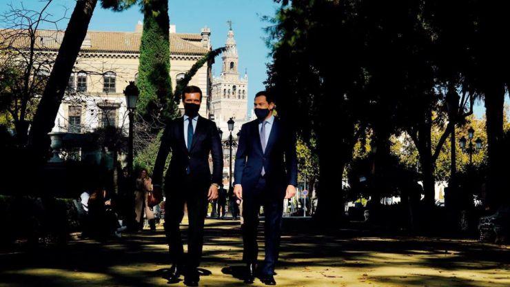 Casado afea la 'España ficticia' del Gobierno y no cierra la puerta a una coalición con Cs en Andalucía