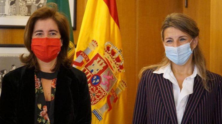 Yolanda Díaz refuerza el diálogo social con Portugal y la cooperación transfronteriza