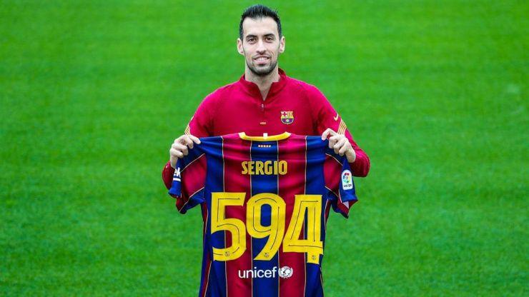 Sergio Busquets de récord: Ya es el cuarto jugador con más partidos del F.C. Barcelona
