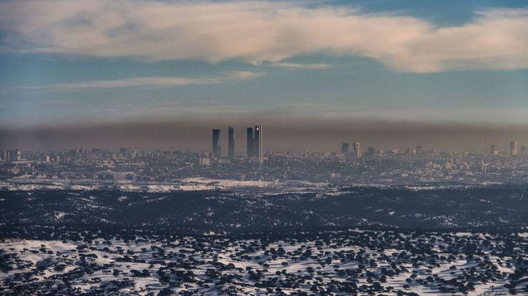 'Filomena' agudiza la contaminación en Madrid