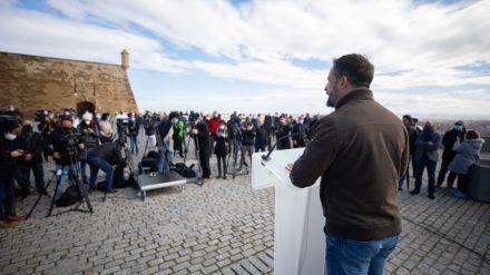 Abascal augura un buen resultado en Cataluña frente a la 'ruina socialista y populista'