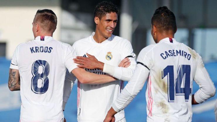 Varane disputó en Bérgamo su partido 350 con el Real Madrid