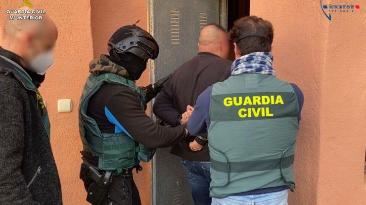 La Guardia Civil detiene al líder de una de las organizaciones criminales más activas de Francia