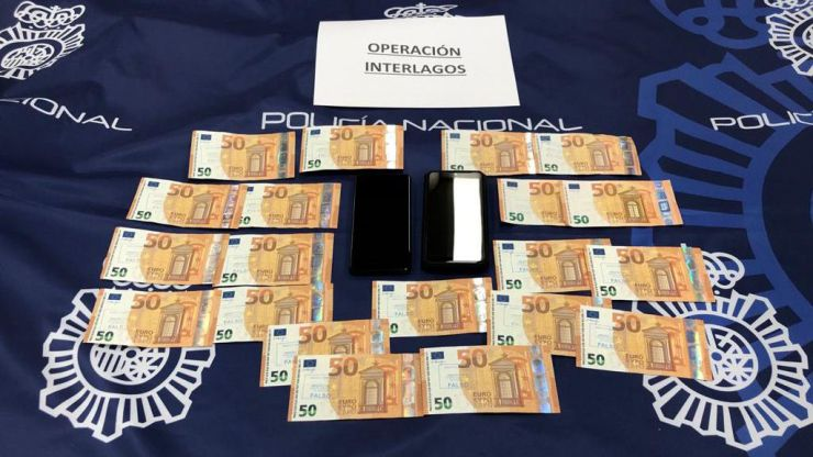Detenidas cuatro personas en dos operaciones contra la introducción y distribución de moneda falsa