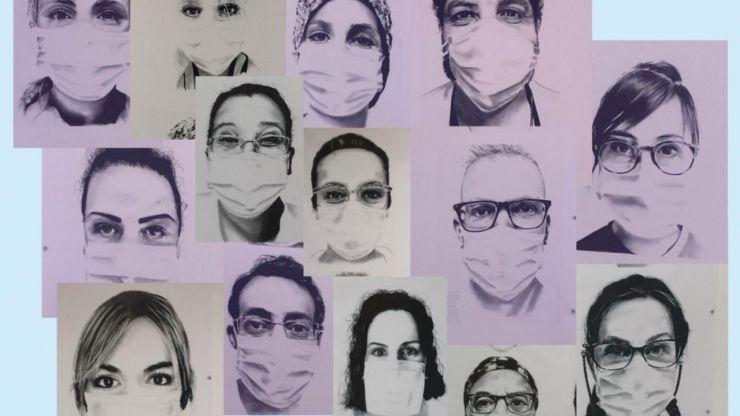 El Puerta de Hierro homenajea a sus profesionales en el primer aniversario de la pandemia