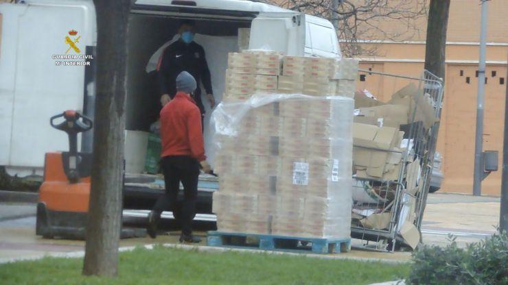 31 detenidos de dos organizaciones dedicadas al robo de camiones y naves industriales
