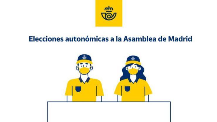 Correos aplica todos los protocolos de seguridad para garantizar la salud de sus empleados en las elecciones madrileñas