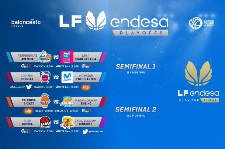 Los Playoffs de la LF Endesa definen sus eliminatorias de cuartos de final