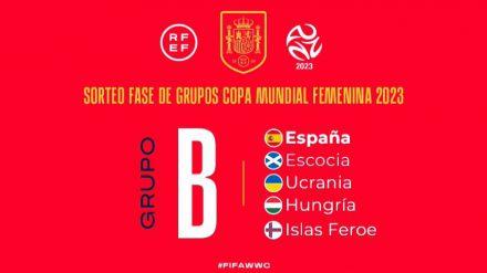 Escocia, Ucrania, Hungría e Islas Feroe: los rivales de España para el Mundial Femenino
