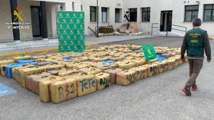 Intervenidas cinco toneladas de hachís a una organización establecida en España, Marruecos e Italia