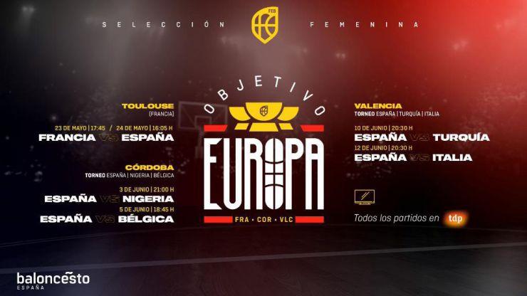 Selección Femenina: España disputará seis partidos de preparación rumbo al Eurobasket 2021