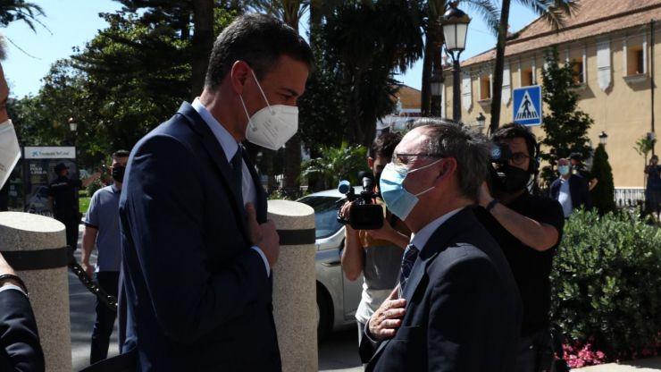 Así reciben a Sánchez y a Marlaska en Ceuta en plena crisis migratoria