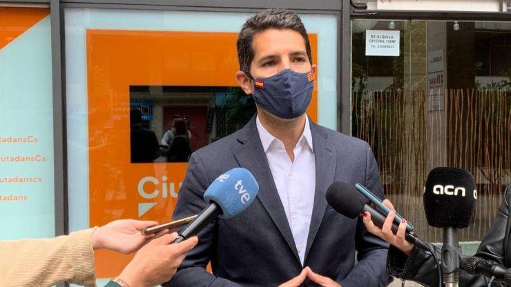 Ciudadanos critica a Sánchez por 'mirar hacia otro lado ante el discurso rupturista de Aragonès'