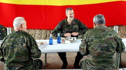 El Rey asiste al ejercicio de la Brigada Experimental 35 Defensa Colectiva de la OTAN