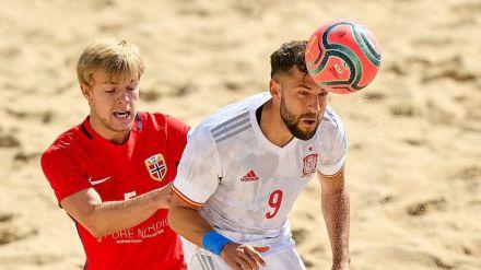 España sí destaca en su camino al mundial de fútbol playa con goleada