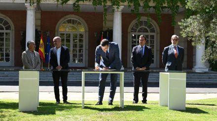 Sánchez y su acuerdo con los agentes sociales para 'garantizar el poder adquisitivo de las pensiones actuales y las del futuro'