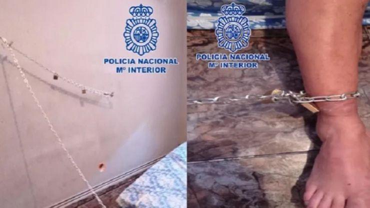 Detenidas tres personas por encadenar a un familiar a la pared de una habitación durante ocho días